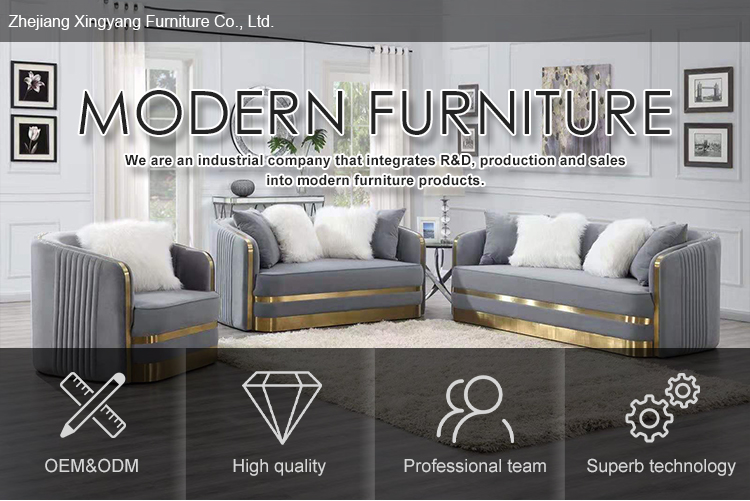 Professional Velvet Luxurious European Sofa Sets With Stainless Steel Legs