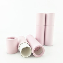 0.3oz 7g Brown/<strong>Black</strong>/White Eco Biodegradable Lip Balm Packaging Tube Push Up Paper Tube