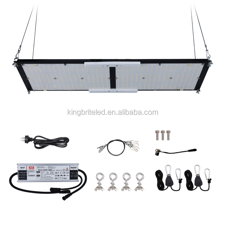 Pre-assemabled Kingbrite 240W Samsung LM301H mix red Epistar 660nm UV IR quantum grow light