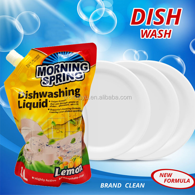 Eco-Friendly 1000ML Customized Doy Bag Packaging Dish Washing Liquid refill