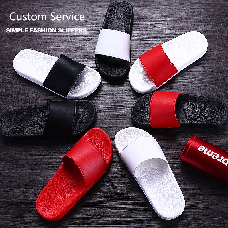 Custom Printing Logo Pattern Black Plain Men's EVA PVC Sandals Slides <strong>Slippers</strong>