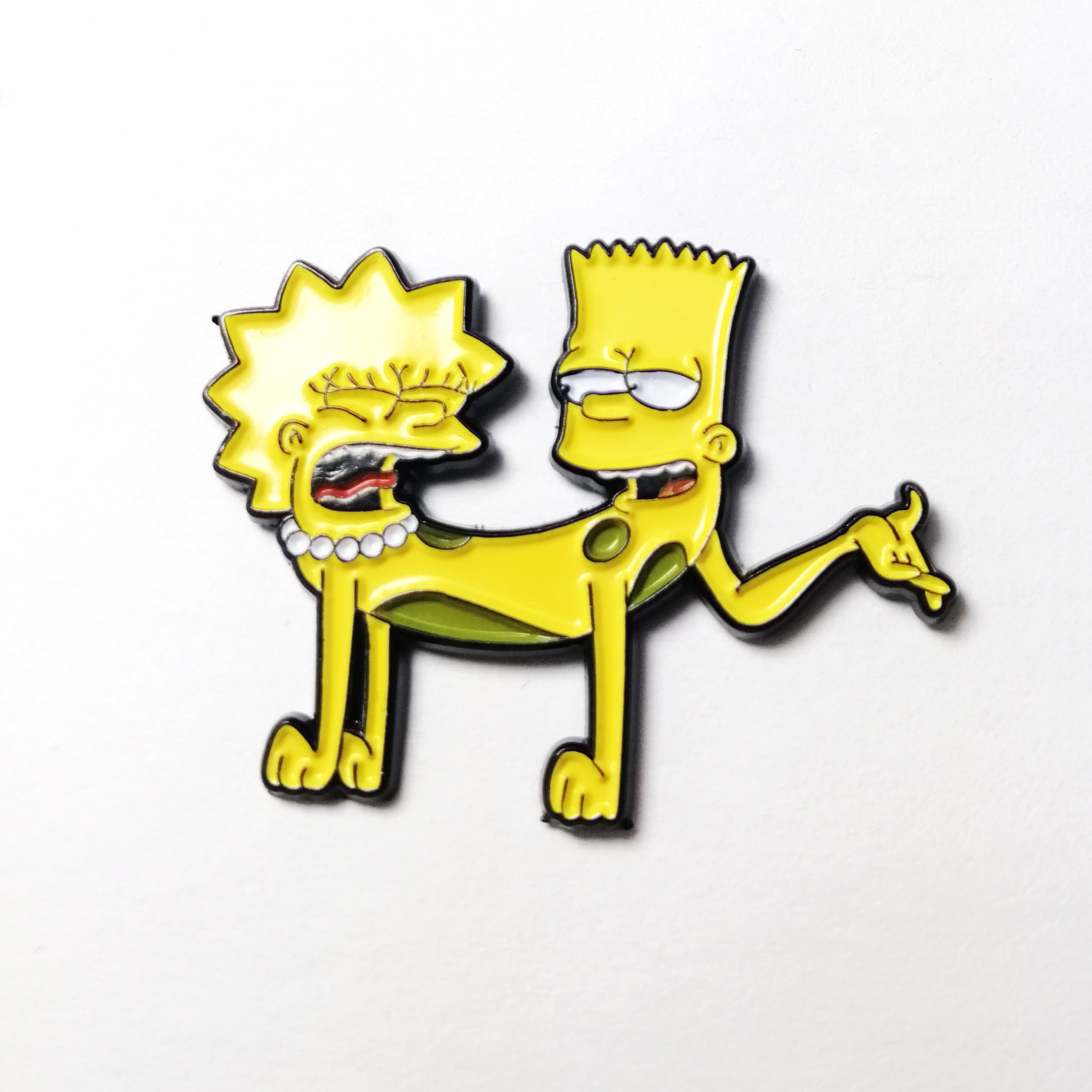 soft enamel pin custom logo shape the Simpsons cat dog special <strong>metal</strong>