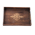 Custom wholesale wooden serving tray with  metal handle