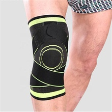 Custom Logo Knitted Elastic Pain Relief Knee Sleeve Brace Support