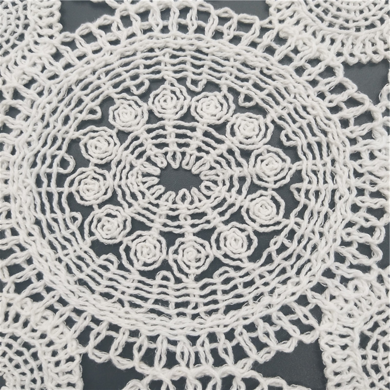 100%cotton guipure geometry circle cotton crochet lace fabric