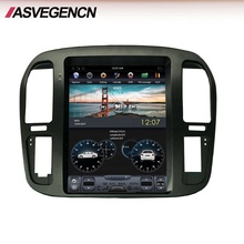 Tesla atacado Estilo Do Carro DVD Player Para Toyota Land Cruiser 100 1999-2002 Rádio de Carro Com Bluetooth Wifi Playstore vertical
