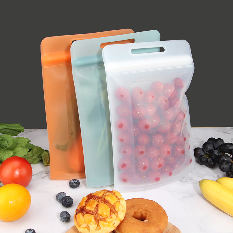 New Design Easy Zip Seal Airtight Silicone Food Storage Bag