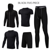 <strong>men</strong> active eco friendly gym plus size fitness wear for <strong>mens</strong> 5PCS sport set clothing
