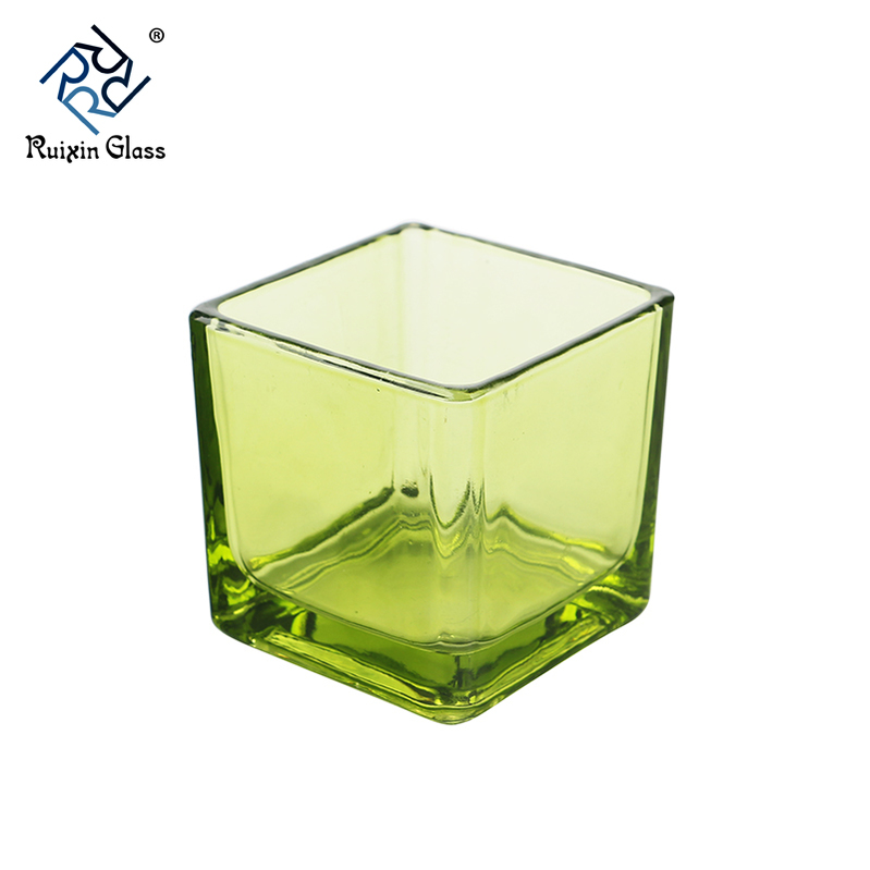 CJ418 Newest Handmade Blown Clear Glass Candle Jars