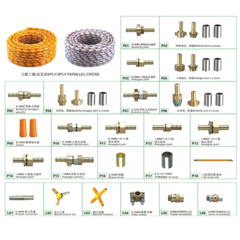 Pvc high pressure spray hose fitting spare parts hexzgon joint connector cross tea
