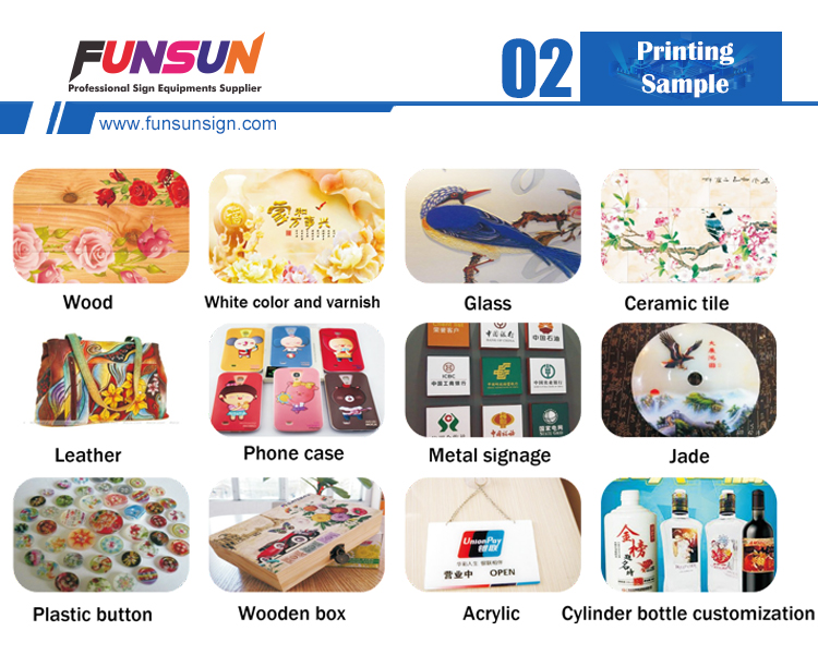 Funsun 1440dpi dx8 head phone case wood a3 led uv flatbed printer