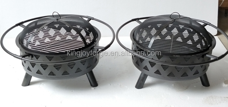 30 inch round star and moon outdoor firepit