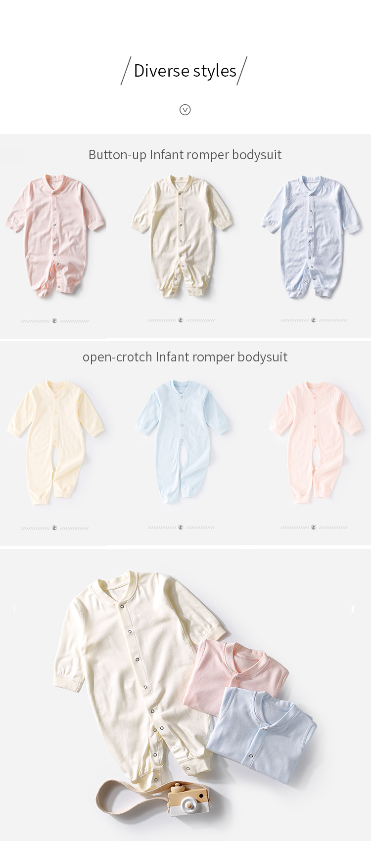 Enerup 2020 100% PLA biodegradable soft as organic cotton knit new born baby clothes clothing romper jumpsuit set