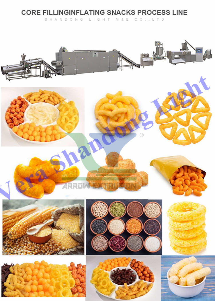 Fully Automatic Puff Snack Making machine