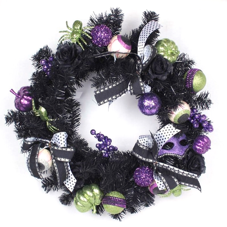 Latest artificial flower wreath laurel wreath fairy wreath for Halloween and Thanksgiving