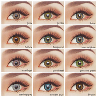 HOT High quality 12 colors available cosmetic comfortable wholesale color contacts fresh look 1 year colored contact lenses