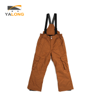 New pattern OEM waterproof fancy custom kids windproof snowsuit bib boy ski pants for children