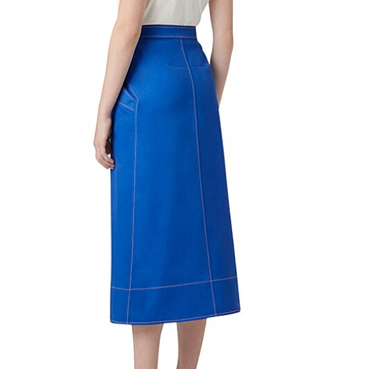 wholesale long pencil cotton women wrap skirt with front split