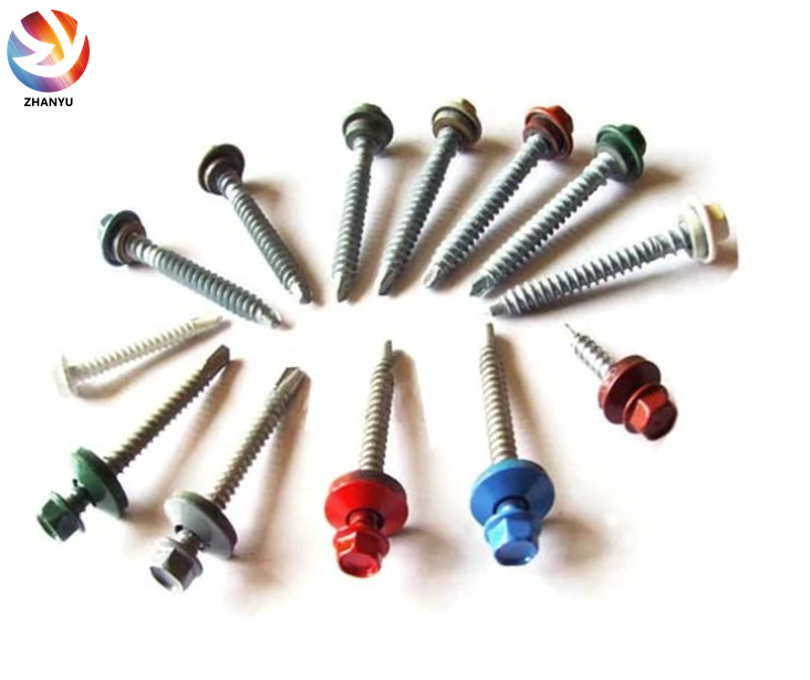 Roofing Screw Hex Head Self Drilling Screw with Washer Color Zinc Building <strong>C1022</strong>