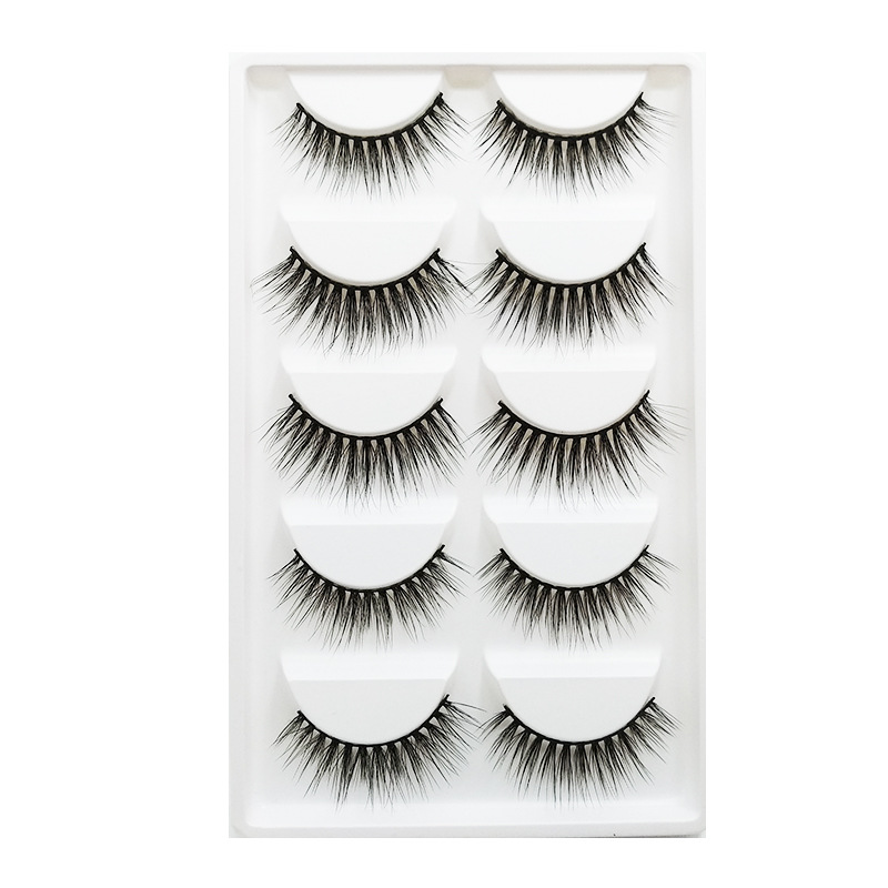 <strong>5</strong> Pairs Natural long Eyelashes Makeup False Eyelashes Thick 3d Mink Lashes