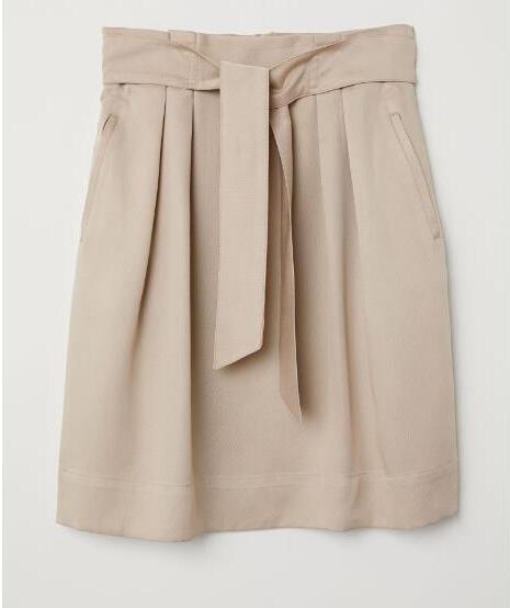 OEM women's fashion skirt Summer pleated high waist bow midi skirt