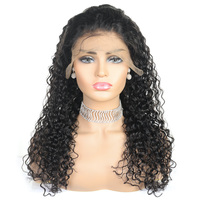 Wholesale curly human hair extensions 360 virgin cuticle aligned human hair full lace wig