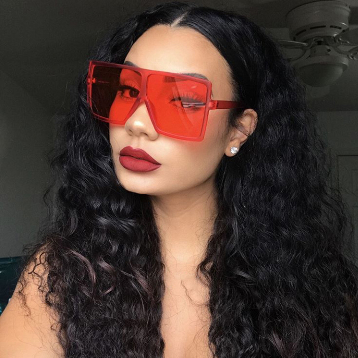 GUVIVI FDA&CE 2020 INS wholesale Fashion square sunglasses oversized sunglasses women High quality sunglasses