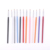 Yaeshii Nail Brush Fan Shape Painting Clean Dust Flash Powder Nail Brush Set