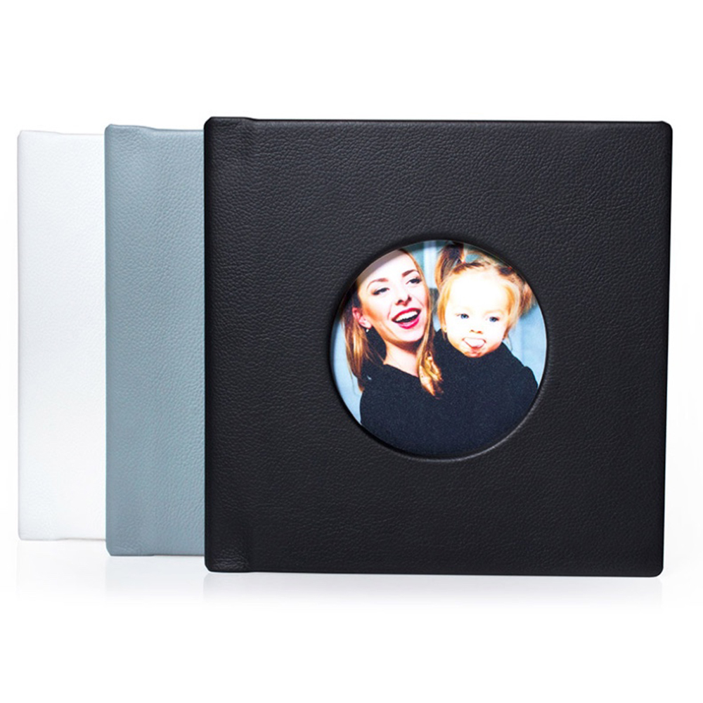 New design high-end custom logo PU leather foto photo album