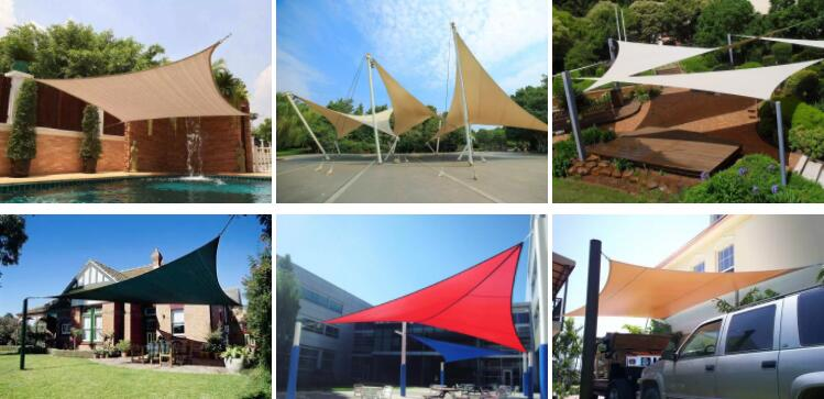 Outdoor Sun Protection Netting Shade Sail