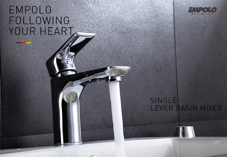 Bathroom designed brass chrome wash basin sink taps basin faucet