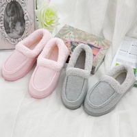 Fashion Cotton Upper Warm Anti Slip Sole Indoor Slip On Women Winter House Shoes