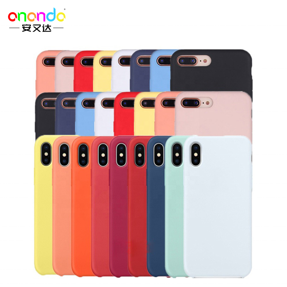 56 colors Liquid Silicone Rubber phone cover for iPhone <strong>case</strong>