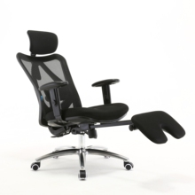 executive chair back support mesh bottom description folding footrest attachment office chair