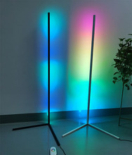 Modern bedroom black led simple RGB floor <strong>light</strong> color changing minimum corner stand smallest corner floor lamp