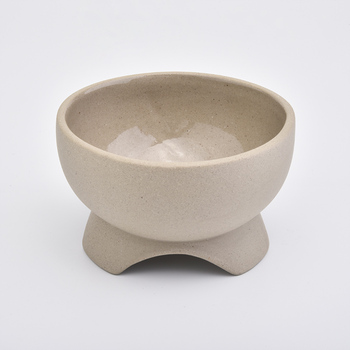 6oz Sand Soil Concrete Candle Holders Votive Candlestick for Home Decorations