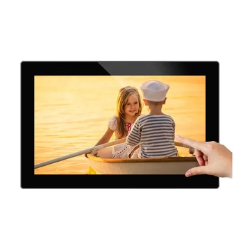 "18.5"" wall mounted LCD 10 points touch screen indoor remote control android metro digital signage media player board"