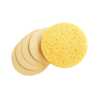Compressed Wash Facial Cleansing Makeup Cellulose Sponges Round Water absorbent Customized Shape
