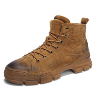 Retro fashion men's boots comfortable breathable casual Martin boots