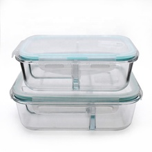 Retangular glass food <strong>container</strong>/ lunch box/ food storage with bag for office/camping