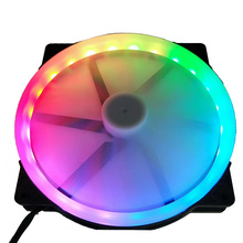 20cm big fan <strong>RGB</strong> circle led fan automatically switch silent for computer Case 20025 fan <strong>RGB</strong> 12v 3pin molex 4pin Cooling Fan