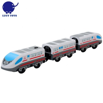 EMU Train Compatible with Thomas wooden Rail Electric Wood train Toy Set