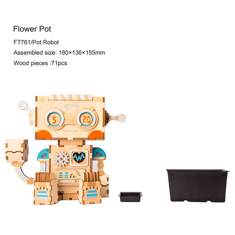 DIY Garden FT761 Flower Pot Kids Educational Puzzle