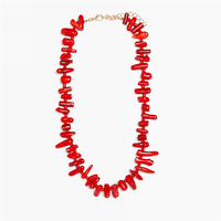 Ali baba Wholesale Natural Sea Red Coral Necklace Jewelry