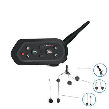 EJEAS Brand E6 1200M motorcycle helmets bluetooth intercom with speakers