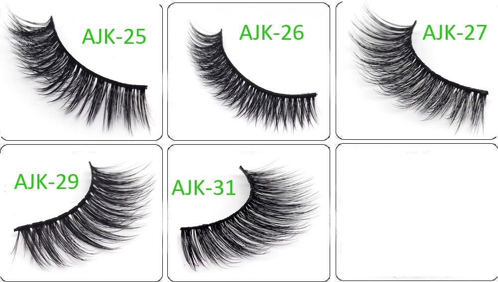 Create Your Own Lashes Natual Soft Faux Mink Premium Silk Full Strip Lashes