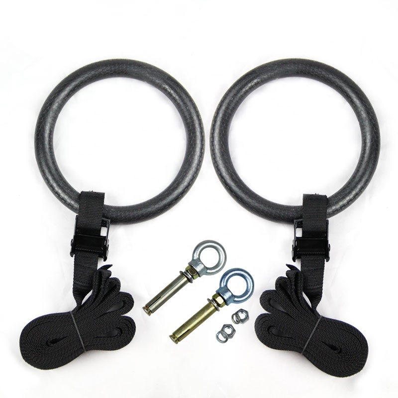 Indoor Fitness Equipment Gymnastic ABS Rings Sport Adult Pull-up Pull Rings