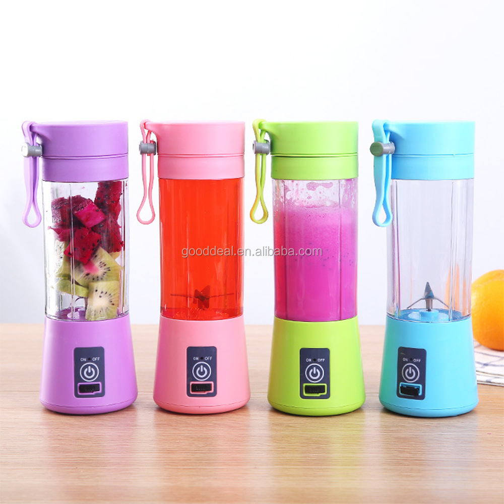 Factory custom logo USB rechargeable portable fruit juicer blender cup for home