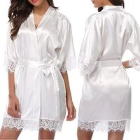 HSZ Y092 Cardigan Sexy mature women adult robe luxury night wear nightgowns kimono sleeping clothes home wear
