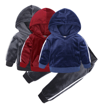 Wholesale Warm Hoodie Pants <strong>Set</strong> <strong>Children</strong> Kids Boys Girls Autumn Winter Sport Clothing <strong>Set</strong>